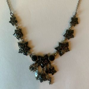 NWT NEW Pilgrim Black Choker Necklace Adjustable